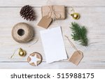 christmas background. holiday... | Shutterstock . vector #515988175