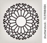 circular abstract floral... | Shutterstock .eps vector #515988484
