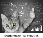 cat near the board | Shutterstock . vector #515989045