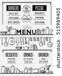 cafe menu food placemat... | Shutterstock .eps vector #515989405