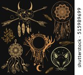 set of graphic design elements... | Shutterstock .eps vector #515989699