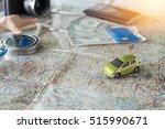 selective focus of car model on ... | Shutterstock . vector #515990671