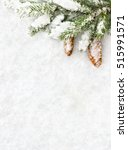 christmas decoration. branch... | Shutterstock . vector #515991571