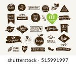 bio  ecology  organic logos and ... | Shutterstock .eps vector #515991997