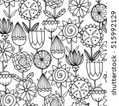 seamless pattern with beautiful ... | Shutterstock .eps vector #515992129