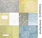 vector set of journaling cards... | Shutterstock .eps vector #515993521