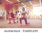 sport  bodybuilding  lifestyle... | Shutterstock . vector #516001105
