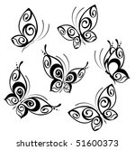 abstract butterfly. beautiful... | Shutterstock .eps vector #51600373