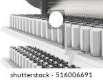 supermarket shelves with soda...   Shutterstock . vector #516006691