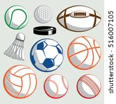 Sport Ball Vector Set On...
