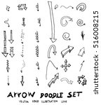 vector hand drawn arrows set | Shutterstock .eps vector #516008215
