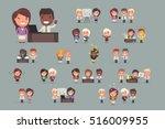 office people working | Shutterstock .eps vector #516009955