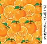 a seamless background of oranges | Shutterstock .eps vector #516011761