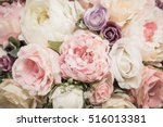 Stock photo bouquet flowers background vintage effect filter 516013381