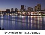 skyline of hotels  skyscrapers  ...   Shutterstock . vector #516018829