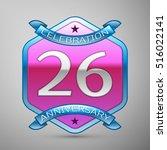 twenty six years anniversary... | Shutterstock .eps vector #516022141