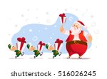 flat merry christmas and happy... | Shutterstock . vector #516026245