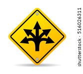 many ways road sign | Shutterstock .eps vector #516026311