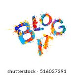 blog it | Shutterstock .eps vector #516027391