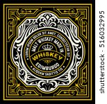 floral label for whiskey... | Shutterstock .eps vector #516032995