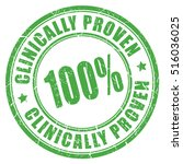 clinically proven rubber stamp... | Shutterstock .eps vector #516036025