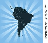 map of south america | Shutterstock .eps vector #516047299