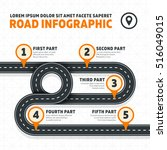 road map  street  highway...   Shutterstock .eps vector #516049015