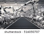 3d rendering robotic arms with... | Shutterstock . vector #516050707