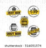 handmade craft beer rough... | Shutterstock .eps vector #516051574