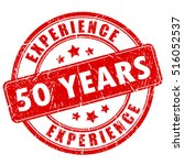 50 year experience rubber stamp ...   Shutterstock .eps vector #516052537
