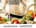 slim woman body with gray...   Shutterstock . vector #516054379