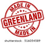 made in greenland. stamp. | Shutterstock .eps vector #516054589