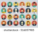 professions vector flat icons.... | Shutterstock .eps vector #516057985