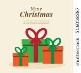 gift   present. christmas... | Shutterstock .eps vector #516058387
