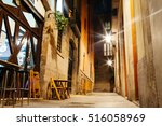 empty street of barri gotic at... | Shutterstock . vector #516058969