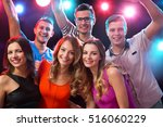 group of happy friends posing... | Shutterstock . vector #516060229
