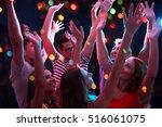 young people having fun dancing ... | Shutterstock . vector #516061075