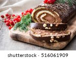 Chocolate Yule Log Christmas...