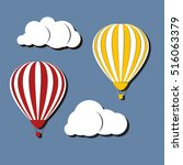 hot air balloons in the sky.... | Shutterstock .eps vector #516063379