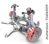sedan back suspension with new... | Shutterstock . vector #516065059