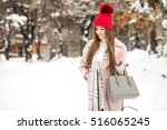 winter girl fun   Shutterstock . vector #516065245