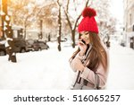 winter girl fun   Shutterstock . vector #516065257