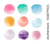 different colors watercolor... | Shutterstock .eps vector #516079321
