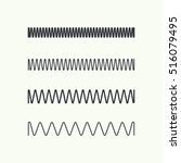 set coil spring vector icon