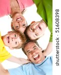 happy family. father  mother... | Shutterstock . vector #51608398