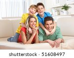 happy family. father  mother... | Shutterstock . vector #51608497