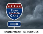 repealing and replacing obama... | Shutterstock . vector #516085015
