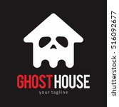ghost house logo icon symbol... | Shutterstock .eps vector #516092677