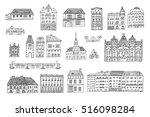 hungary budapest city houses... | Shutterstock .eps vector #516098284