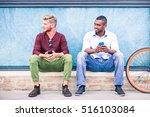 interracial male friends... | Shutterstock . vector #516103084